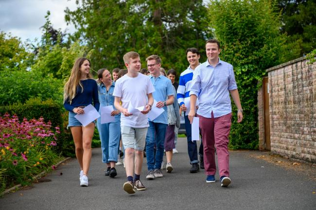 PROUD: King's College students receiving their results in summer 2019