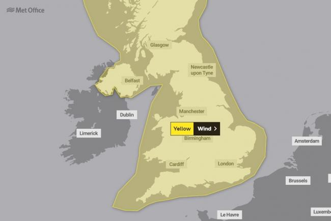 WEATHER WARNING: Strong winds to hit the UK