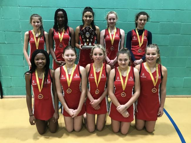 WINNING STREAK: Taunton School's Under-14 netballers. Pictured from left, back row - Charlotte Nelson, Amelia Mukamitali, Zara Pitman, Ella Marsden, Lucy Gliddon; front row - Nola Fisher, Olivia Hopper, Lily Fawcett, Bella Wells, Brooke Oliver-Whittaker.