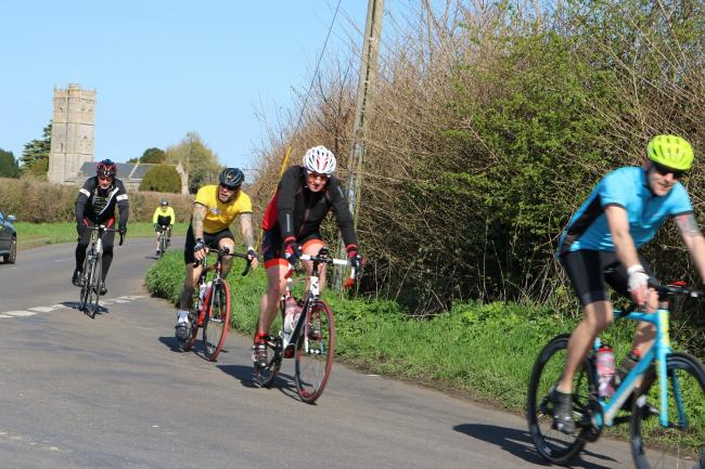 CHARITY RIDE: Actioon from last year's Great Somerset Cycle