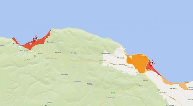 BE PREPARED: Flood warnings for Bossington, Porlock and Dunster are in place