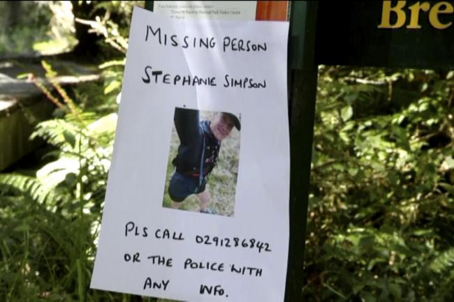 A poster in the search for British hiker Stephanie Simpson at Mount Aspiring National Park