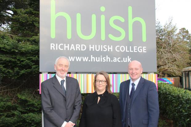 David Griffin (Chair of Governors), Emma Fielding (Principal), John Abbott (Chief Executive, Huish Education Group)