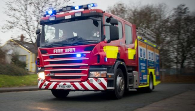 Firefighters called to tackle compactor vehicle fire at yard in Glastonbury
