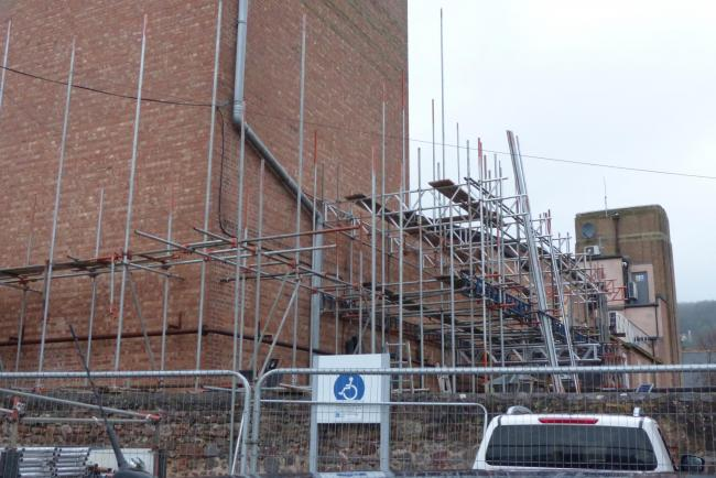 UNDERWAY: Work on the roof of the Regal in Minehead