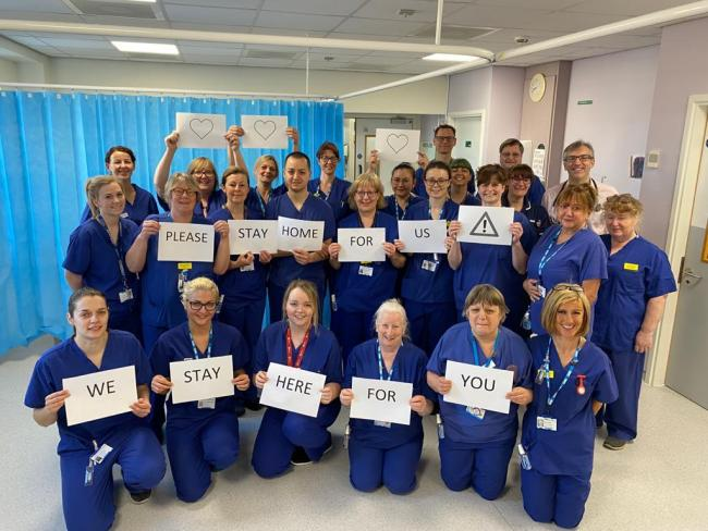 ON THE FRONT LINE: Staff at Musgrove Park Hospital in Taunton