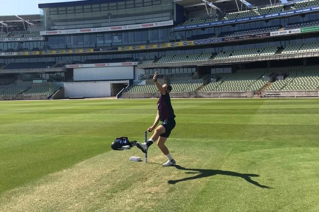 Chris Woakes in training – Handout