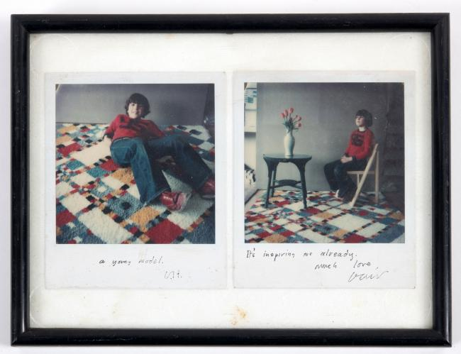 UP FOR AUCTION: Two rare polaroid photographs taken by David Hockney £400-600 (from the estates of the late David & Ann Graves)