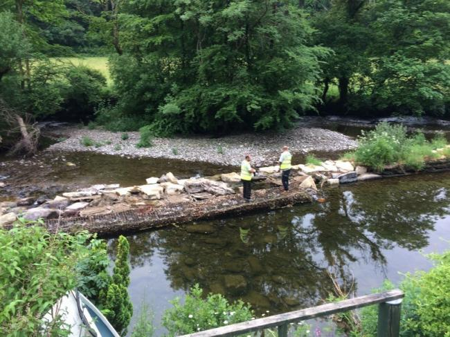 HERITAGE: Emergency repair work is carried out on the Dulverton Leat
