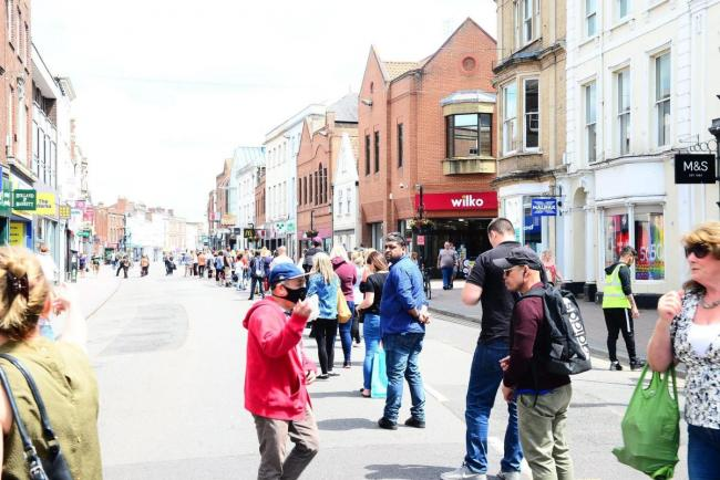 SHOPS RE-OPENING: 2,000 visitors at peak as visitors flock back to Taunton town centre