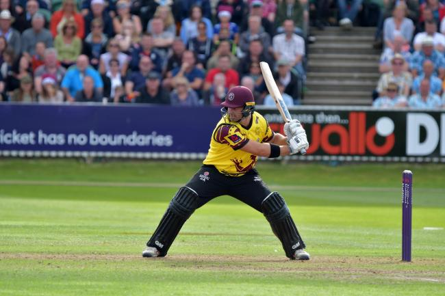 Corey Anderson in action for Somerset. Pic: SCCC