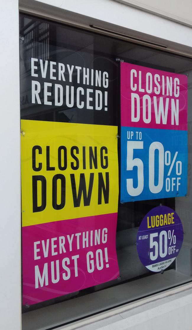 CLOSING DOWN: The Laura Ashley store in Taunton