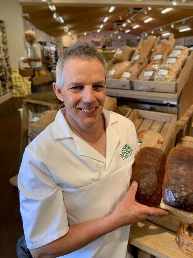 BAKERY MANAGER: Bob Boulton, who is running the new addition to Rumwell Farm Shop