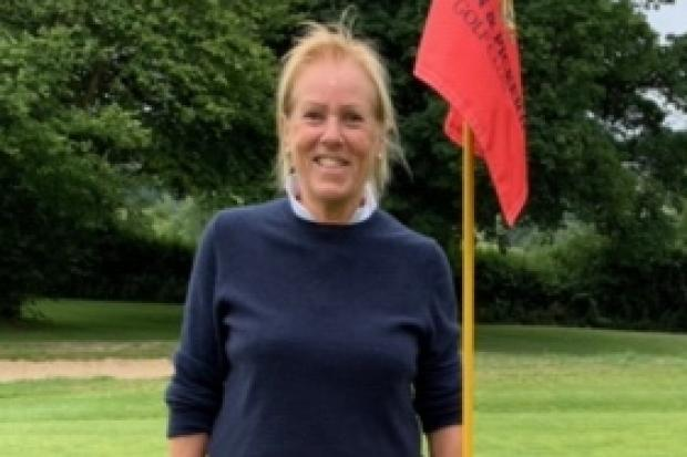 HOLE IN ONE: Gill Shire, who aced the par-3 sixth hole