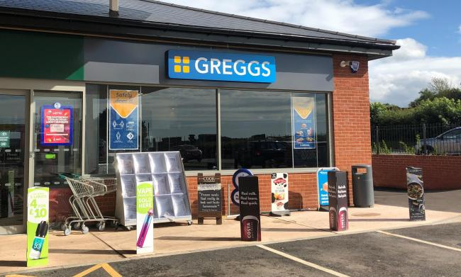 OPENING THIS WEEK: The new Greggs at Wembdon Service Station near Bridgwater