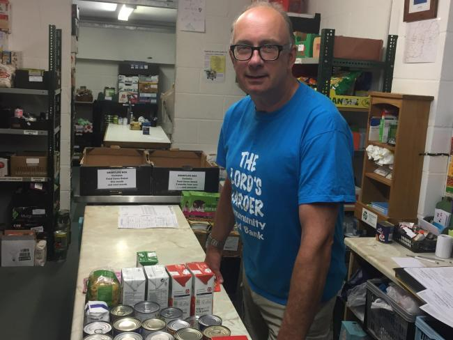 SUPPORTING THOSE IN NEED: Mat Callaghan at the Lord's Larder, Yeovil, believed to be the UK's oldest food bank