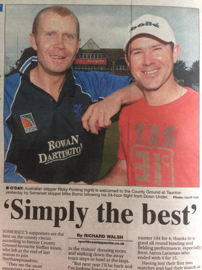 Somerset County Cricket Club's 2004 season - Mike Burns and Ricky Ponting