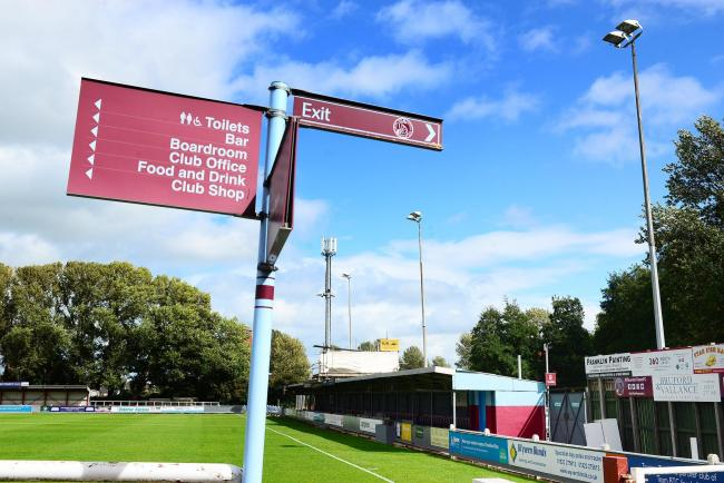 POINTING THE WAY: Taunton Town's first home game of the Southern League season is on September 26 (pic: Steve Richardson)