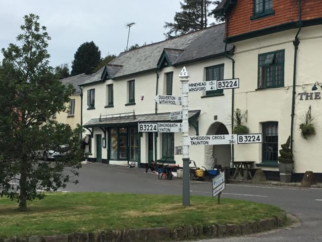 FINISHING TOUCHES: Exmoor Village Stores in Exford reopen after nearly 18 months, much to the relief of the village residents
