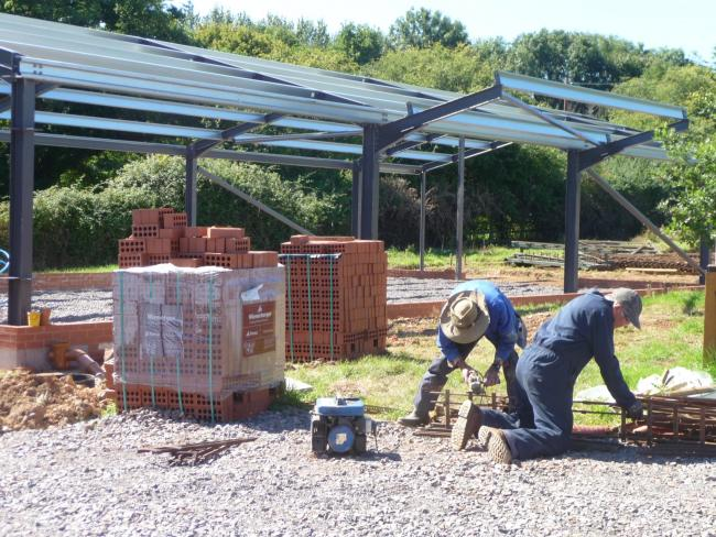 HARD AT WORK: TME members on site at West Buckland