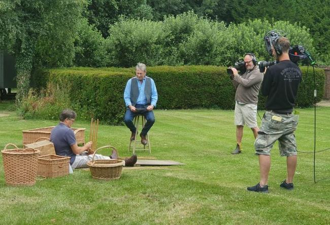 Darren Nicholls chatting to Alan Titchmarsh during filming for the programme