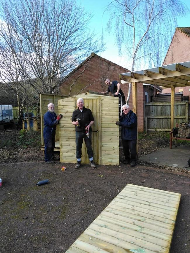BUILDING: A new shed in the garden