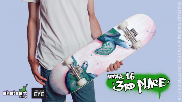 Somerset County Gazette: Maddie Pratt's skateboard