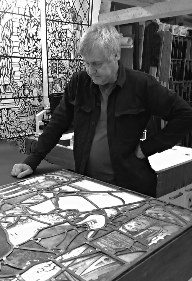 Mr Stephen Clare MBE, who is on the Queens Birthday Honours list for his services to stained glass conservation