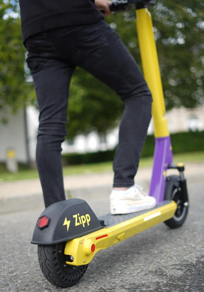 ON TAUNTON STREETS: The e-scooters are available to hire in Taunton - but not everyone's happy