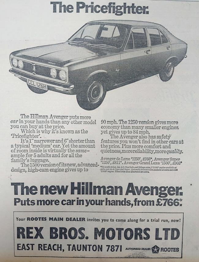 PRICEFIGHTER: The 1970 Hillman Avenger
