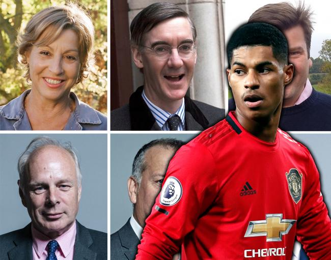 CAMPAIGN: Somerset MPs and Marcus Rashford