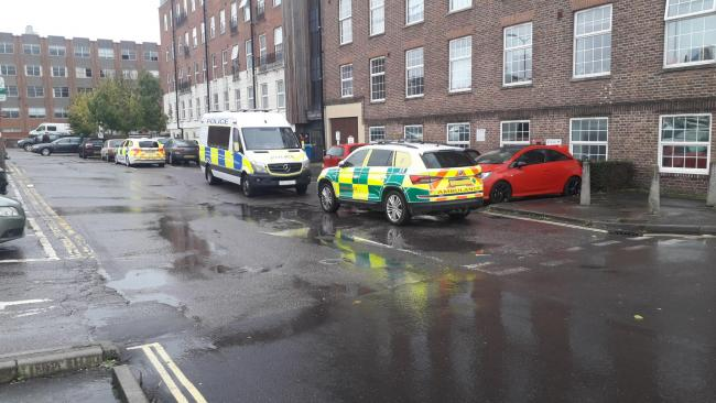 Police and ambulance called to Taunton flats