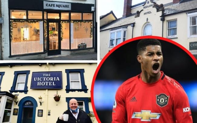 Which Somerset cafes are offering free meals after Marcus Rashford's appeal