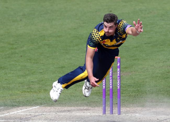 INCOMING: Marchant de Lange in action for Glamorgan
