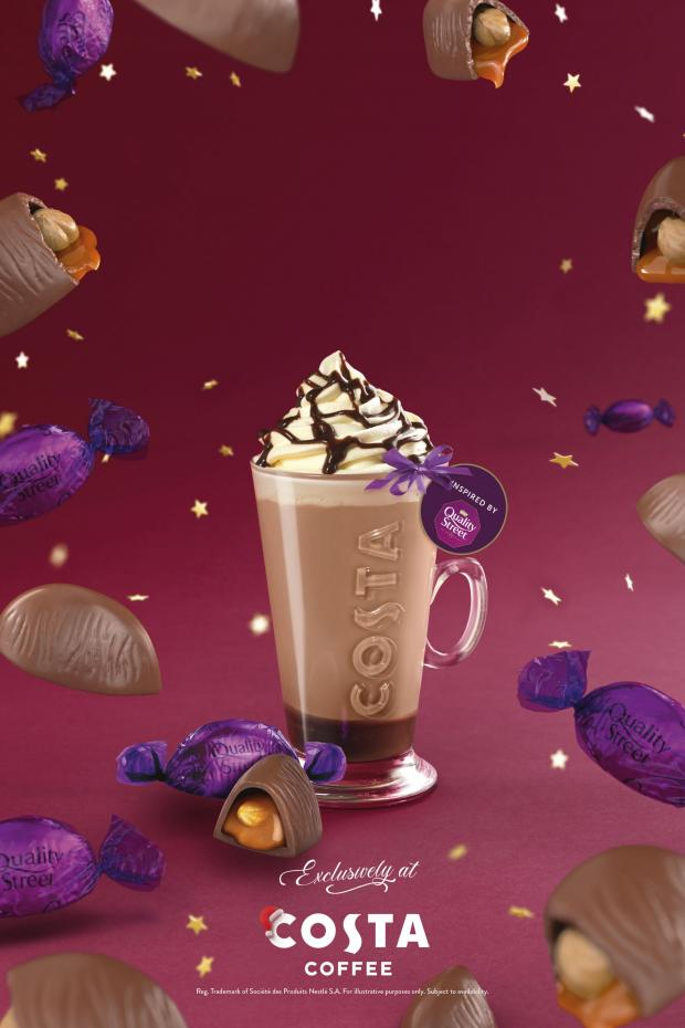Somerset County Gazette: The Quality Street Purple One Latte. Credit: Costa