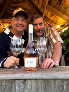 Somerset County Gazette: Miles Leonard, manager of the pub Stewart sat with Kylie's Rosé