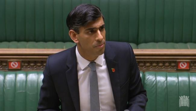 Chancellor of the Exchequer Rishi Sunak giving a statement to MPs in the House of Commons  on economic measures for the second national lockdown in England.  PA Photo. Picture date: Wednesday September 4, 2019. See PA story HEALTH Coronavirus. Photo credi