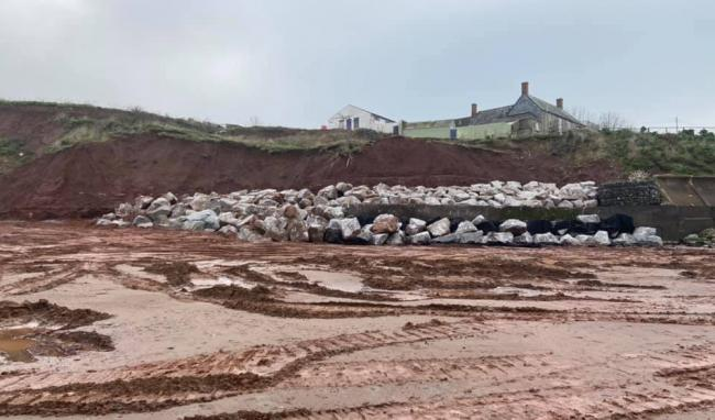 Completed Emergency Works At Blue Anchor. Pic: Cara Strom.