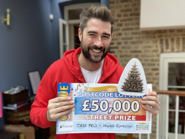 People's Postcode Lottery ambassador, Matt Johnson. Pic: People's Postcode Lottery