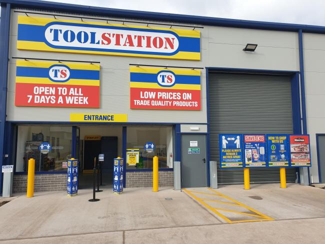 NEW STORE: The new Toolstation store in Rainbow Way, Minehead