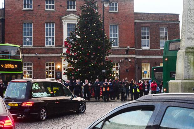Somerset County Gazette: Chris Hodgson funeral procession
