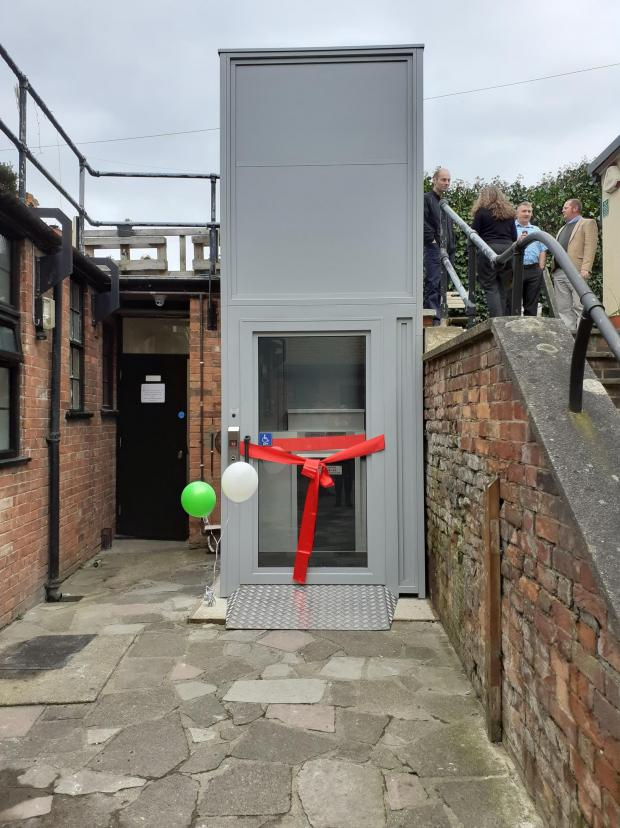 Somerset County Gazette: New lift at Victory House