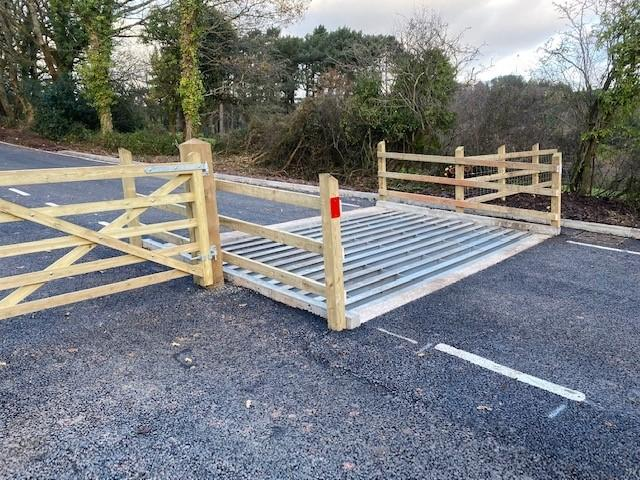New cattle grid for Hill Road, North Hill, Minehead