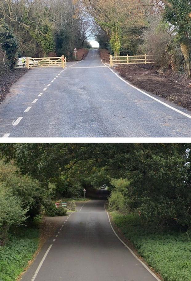 Somerset County Gazette: New cattle grid for Hill Road, North Hill, Minehead
