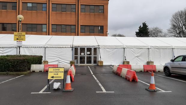 Somerset County Gazette: The vaccination hub recovery facility at Musgrove Park Hospital