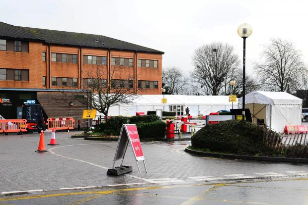 Somerset County Gazette: NEXT STEPS: The vaccination hub at Musgrove Park Hospital in Taunton