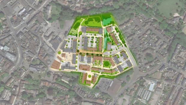 Somerset County Gazette: Saxonvale development plans. Pic: Acorn Property Group