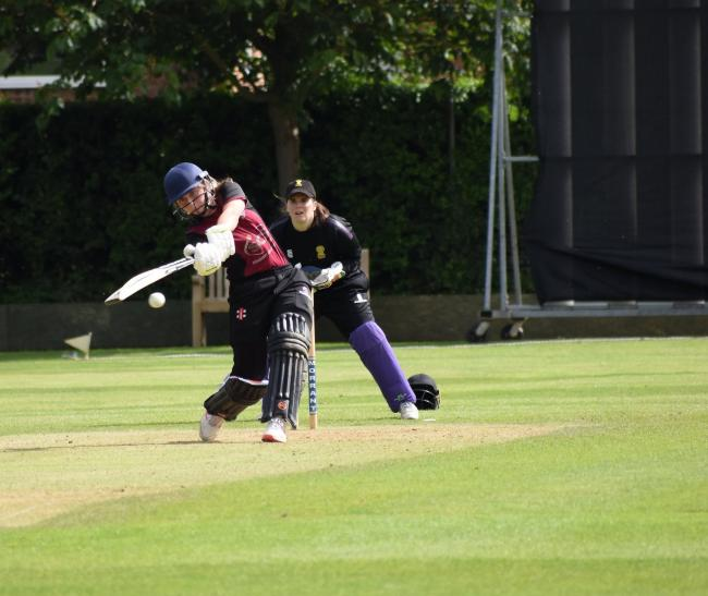 SELECTED: Niamh Holland in batting action for Somerset against Cheshire