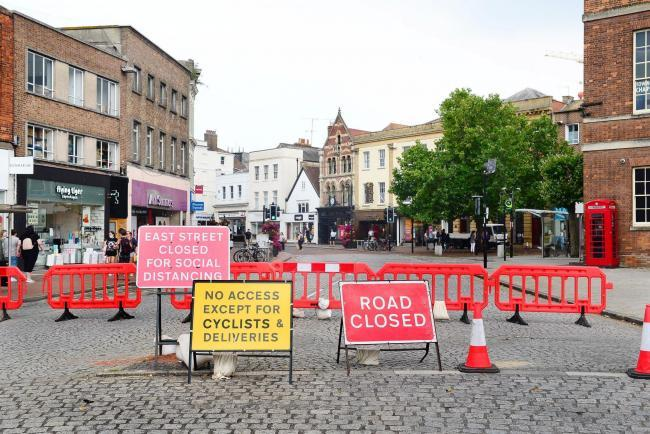 CHANGES: Temporary barriers at the entrance to East Street