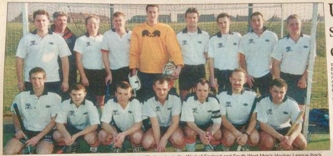 VICTORY: Taunton Vale Hockey Club men's 1st XI in 2001